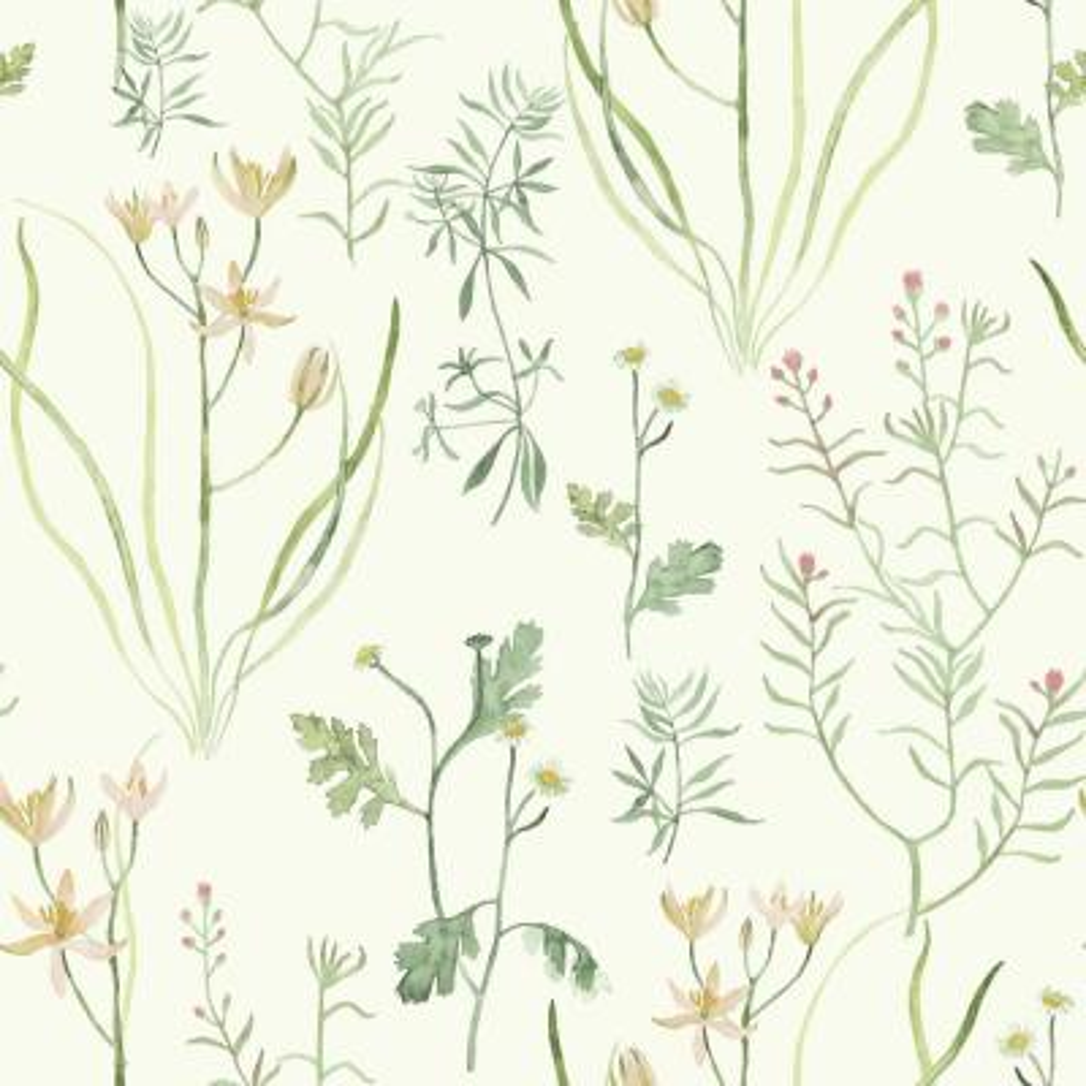 56 sq. ft. Alpine Botanical Wallpaper