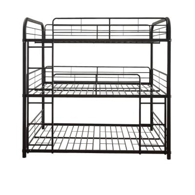 Cairo Sandy Black Full Triple Bunk Bed