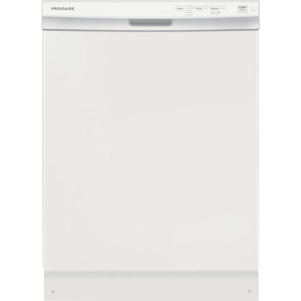 24 in. Built-In Front Control Tall Tub Dishwasher in White, 55 dBA