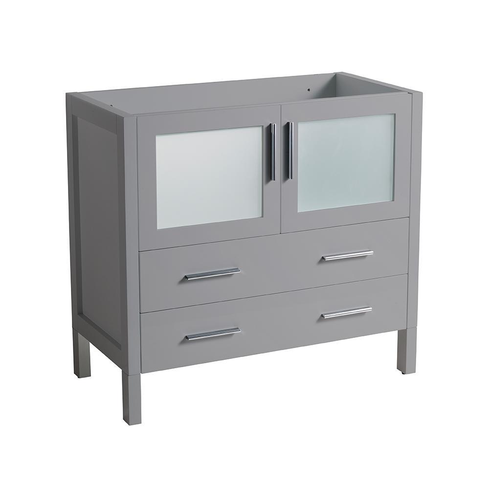 Torino 36 in. W Modern Bath Vanity Cabinet Only in Gray