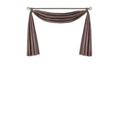 Elrene Leila Single Scarf Blackout Window Valance 144 in. W x 52 in. L in Mauve