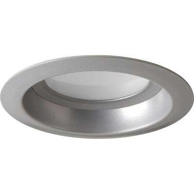 4 in. Metallic Gray Integrated LED Recessed Trim