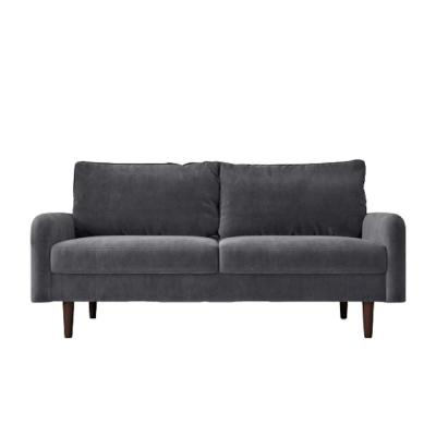 Vivo 71.6 in. Grey Velvet 3-Seater Lawson Sofa with Tapered Legs