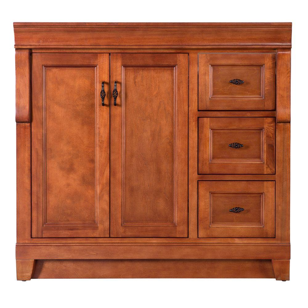 Amazing Home Decorators Collection Naples 36 In W Bath Vanity Cabinet Only In Warm Cinnamon With Right Hand Drawers Best Image Libraries Weasiibadanjobscom