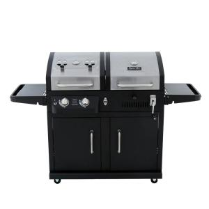 Dyna-Glo Dual Function 2-Burner Propane Gas and Charcoal Grill in Black and... by Dyna-Glo