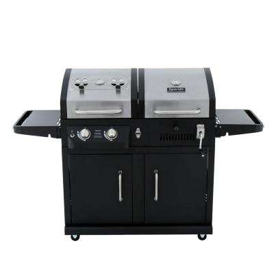 2-Burner Propane Gas/Charcoal Grill