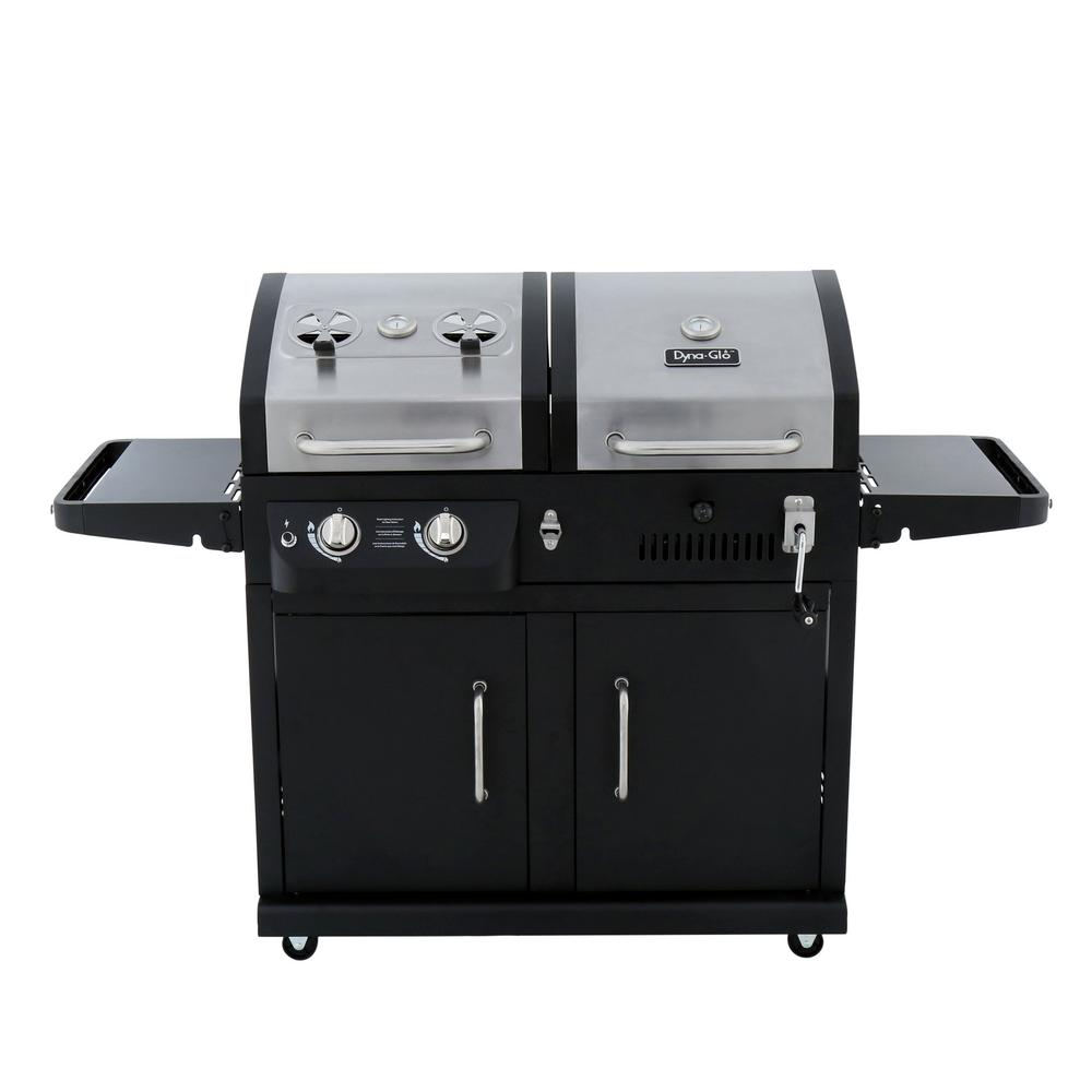 Dyna-Glo Dual Function 2-Burner Propane Gas and Charcoal ...