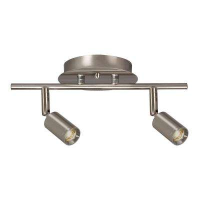 Hudson 2-Light Brushed Nickel Track Lighting Kit