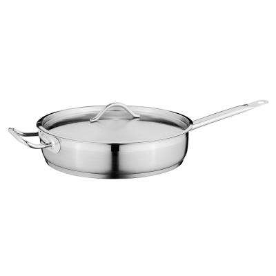 Hotel 11 in. Stainless Steel Covered Deep Skillet
