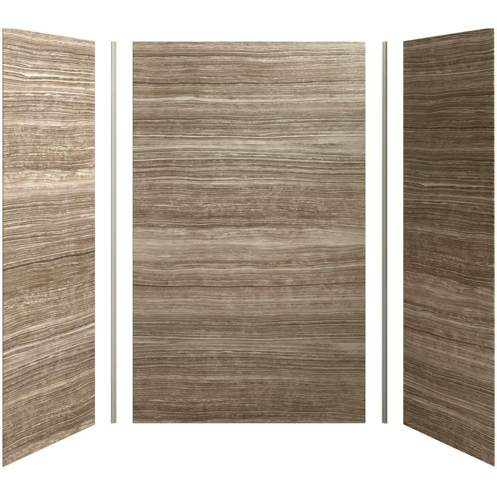 KOHLER Brown Shower Walls Surrounds Showers The Home Depot - Fake tile shower walls
