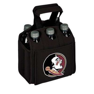 Florida State University Seminoles 6-Bottles Black Beverage Carrier
