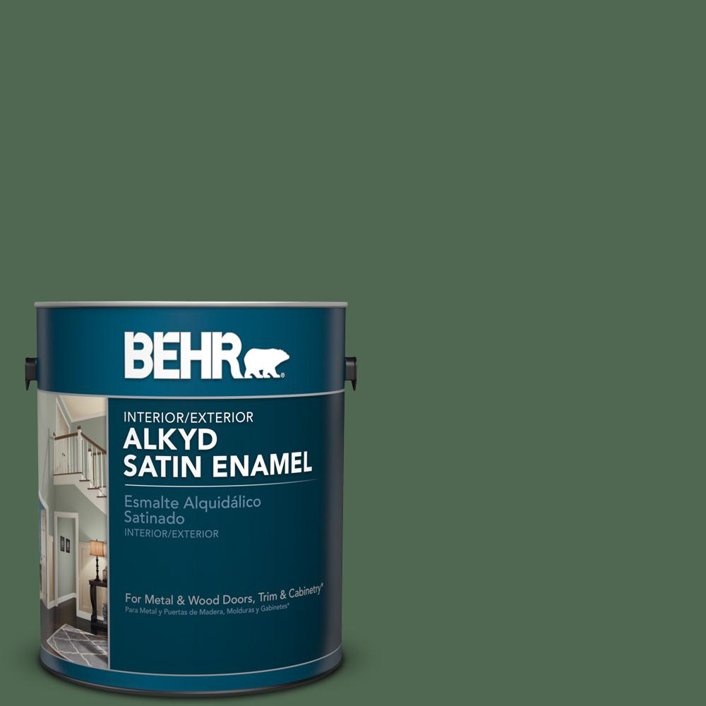 1 gal. #S390-7 Trailing Vine Satin Enamel Alkyd Interior/Exterior Paint