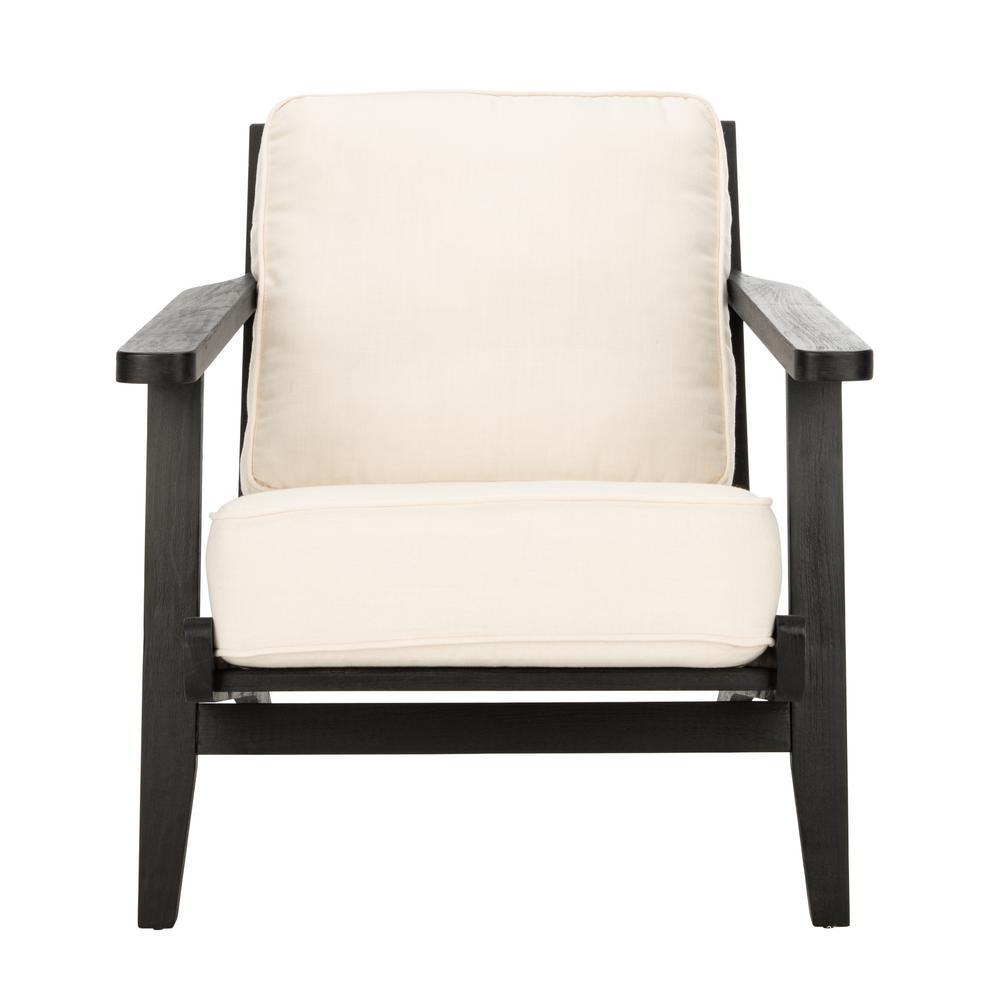 Nico Bone White/Black Accent Chair