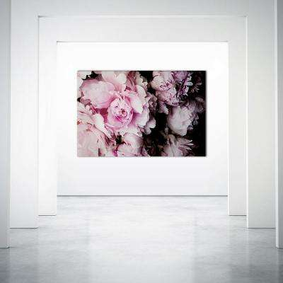 "48 in. x 72 in. ""Peonies Galore I"" by Elizabeth Urquhart Printed Framed Canvas Wall Art"