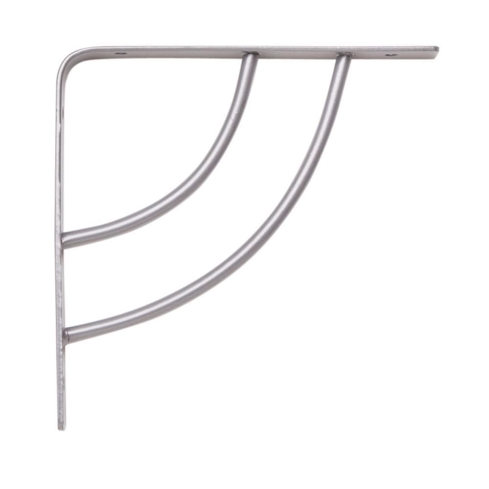 Milano 6 in. x .75 in. Platinum 25 lb. Decorative Shelf Bracket