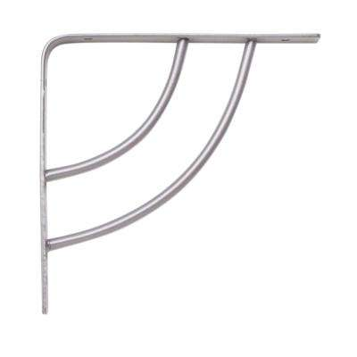 Milano 6 in. x .75 in. Platinum 25 lb. Decorative Shelf Bracket