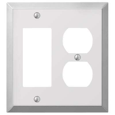 Century 1 Decora and 1 Duplex Combination Wall Plate - Chrome