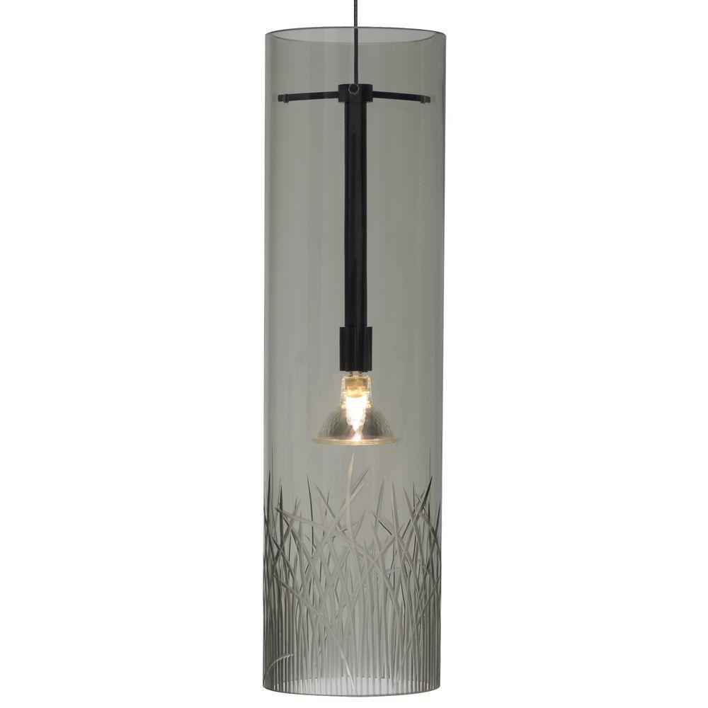 LBL Lighting Springview 1-Light Bronze Smoke Halogen Hanging Mini Pendant