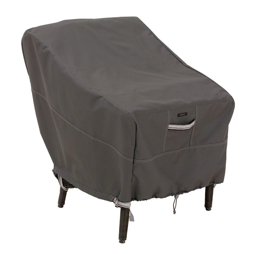 Classic Accessories Ravenna Standard Patio Chair Cover  sc 1 st  Home Depot : grey chair covers - lorbestier.org