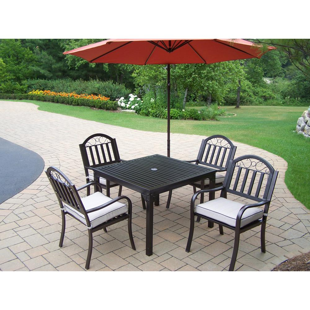 Outdoor Patio Furniture Rochester Ny: Rochester 6-Piece Metal Outdoor Dining Set With Oatmeal