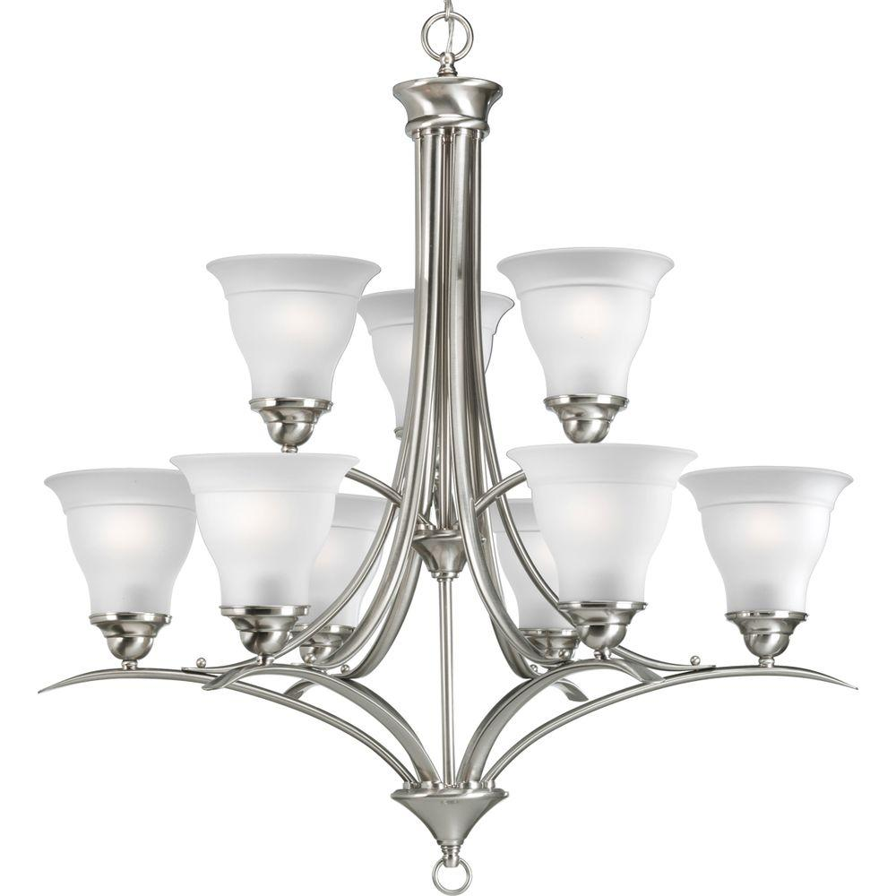 Progress Lighting Trinity Collection 9 Light Brushed