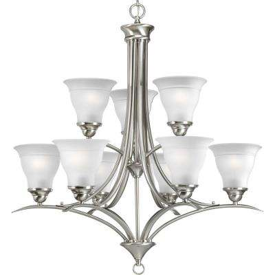 Trinity Collection 9-Light Brushed Nickel Chandelier