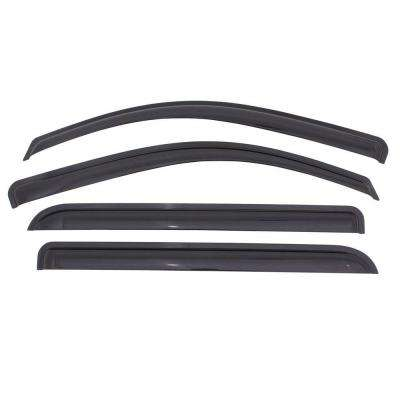 Original Ventvisor 2014 to 2015 Chevrolet Silverado and GMC Sierra Crew Cab Smoke Window Deflector (4-Piece)