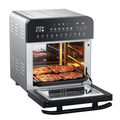 1700-Watts Electric Air Fryer Oven Grill with Dual Heating, Rotisserie, and Dehydrator