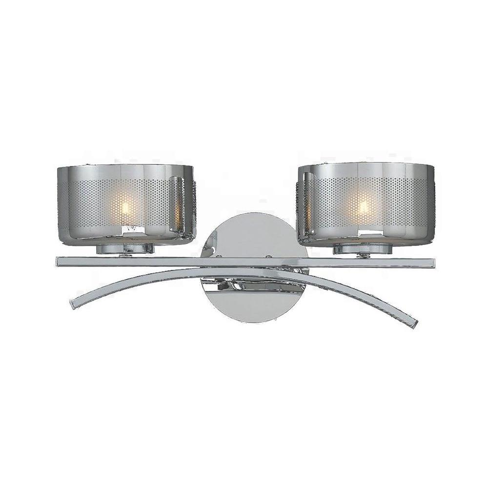 Itala 2-Light Chrome Bath Vanity Light