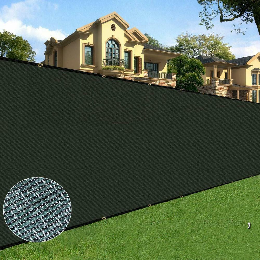 BOEN 4 ft. x 50 ft. Long Lasting Green Privacy Fence Netting Mesh Fabric w/Aluminum Reinforced Grommets UV Treated
