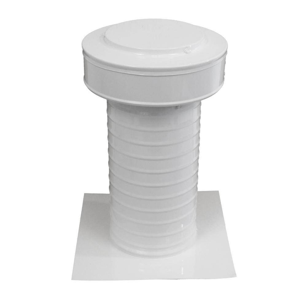 Active Ventilation 6 in. Dia Aluminum Keepa Static Vent for Flat Roofs in White