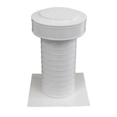 6 in. Dia Aluminum Keepa Static Vent for Flat Roofs in White