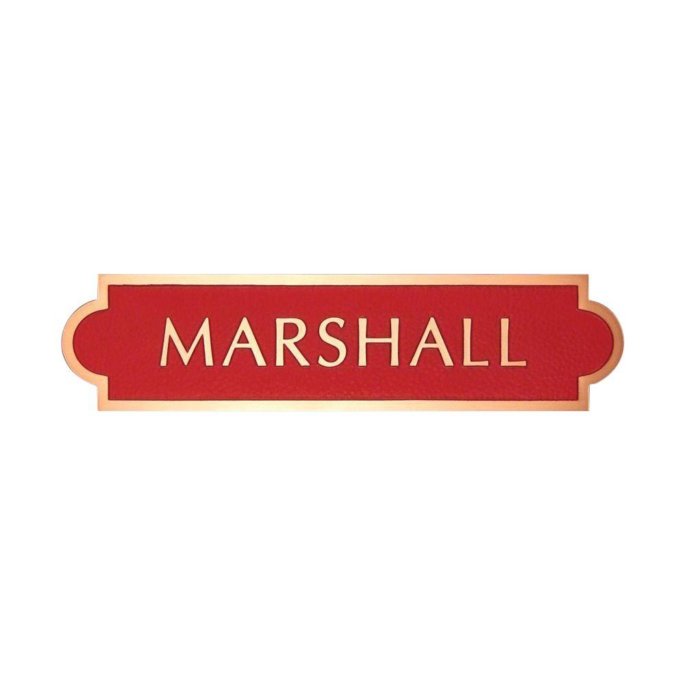 Michael Healy 10 in. x 2.5 in. Classic Double Arch Authentic Solid Bronze Address Plaque in Red-DISCONTINUED