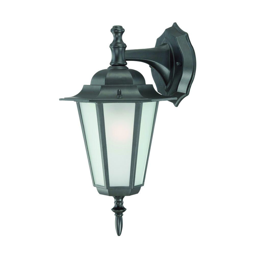 Acclaim Lighting Camelot Collection 1-Light Matte Black Outdoor Wall-Mount Light Fixture