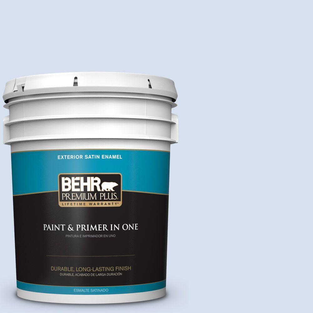 5-gal. #580A-2 Icy Bay Satin Enamel Exterior Paint
