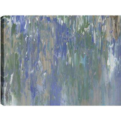 "30 in. x 40 in. ""Waterfalls Abstract"" by Sanjay Patel Printed Canvas Wall Art"
