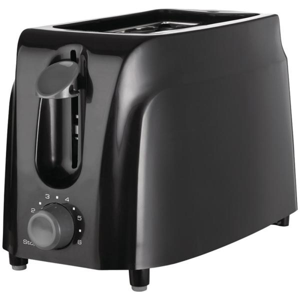 2-Slice Black Toaster with Cool-Touch Exterior
