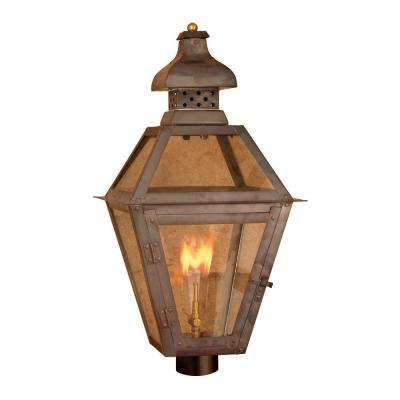 Maryville 26 in. Outdoor Washed Pewter Gas Wall Lantern