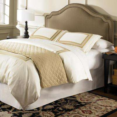 Versailles King/California King Upholstered Adjustable Headboard Panel with Solid Wood Frame and Nail Head Trim Design
