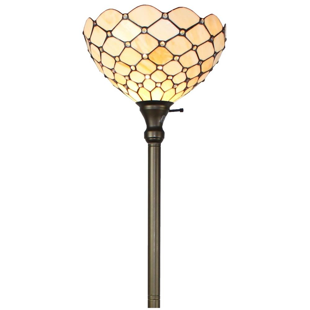 Amora Lighting 72 In Tiffany Style Torchiere Floor Lamp