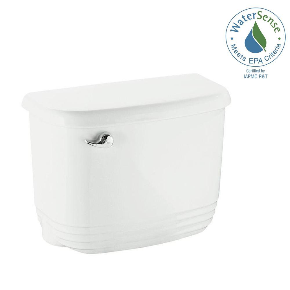 Riverton 1.28 GPF Single Flush Toilet Tank Only in White
