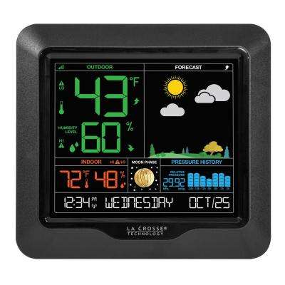 Wireless Color Forecast Station with Pressure Graph