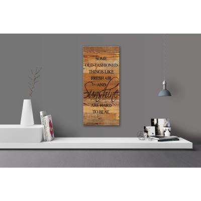FRESH AIR AND SUNSHINE Reclaimed Wood Decorative Sign