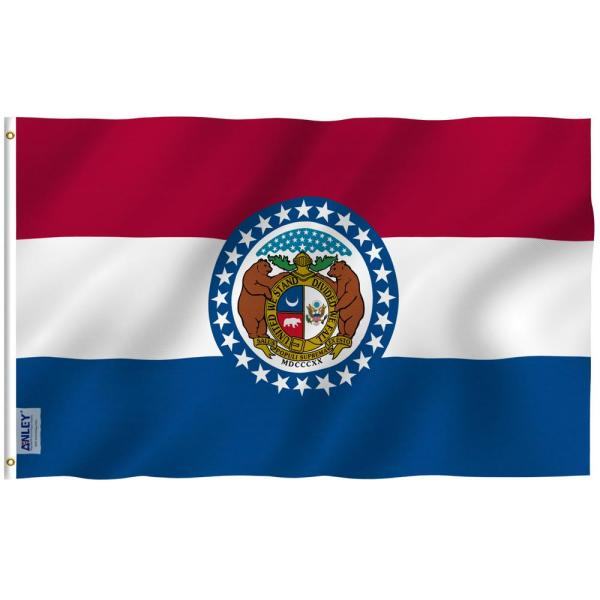 Anley Fly Breeze 3 Ft X 5 Ft Polyester Missouri State Flag 2 Sided Flags Banners With Brass Grommets And Canvas Header A Flag Statemissouri The Home Depot