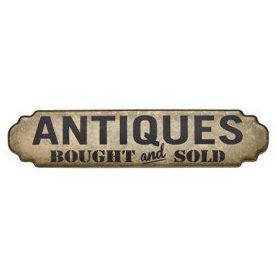 9.25 in. Novelty Sign-Antiques in Gray