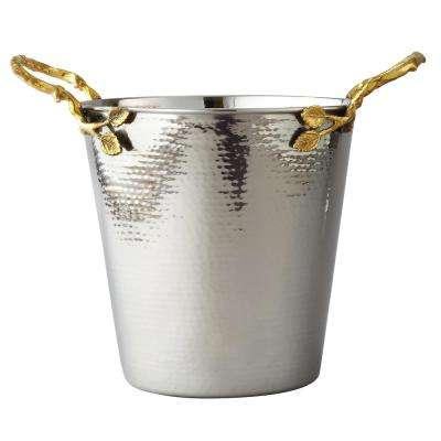 Hammered Golden Vine Wine, Champagne Ice Bucket