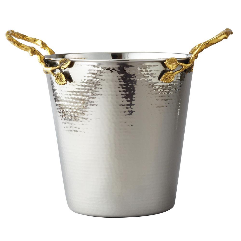 Hammered Golden Vine Wine, Champagne Ice Bucket