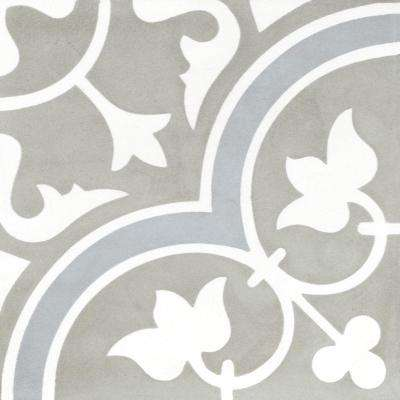 Tulips B Holland 7-7/8 in. x 7-7/8 in. Cement Handmade Floor and Wall Tile