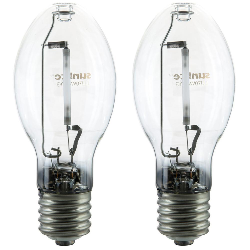 70-Watt ED23 High Pressure Sodium E39 Mogul Base 6300 Lumens Clear HID Light Bulb (2-Pack)