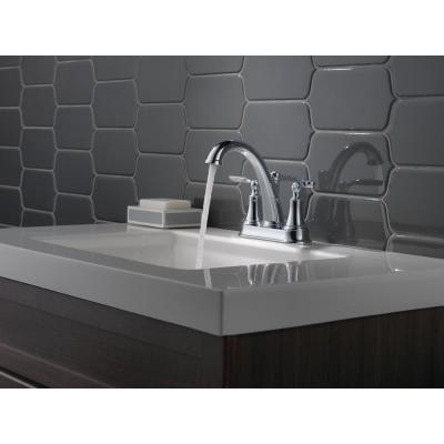 Woodhurst 4 in. Centerset 2-Handle Bathroom Faucet in Chrome